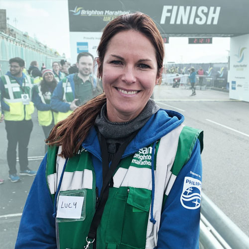 Lucy Rutler professional podiatrist at Brighton Marathon - Sports Podiatrist in Hove and Brighton - Hove Foot Clinic